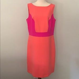 NWT Ann Taylor LOFT colorblock dress sz 12T
